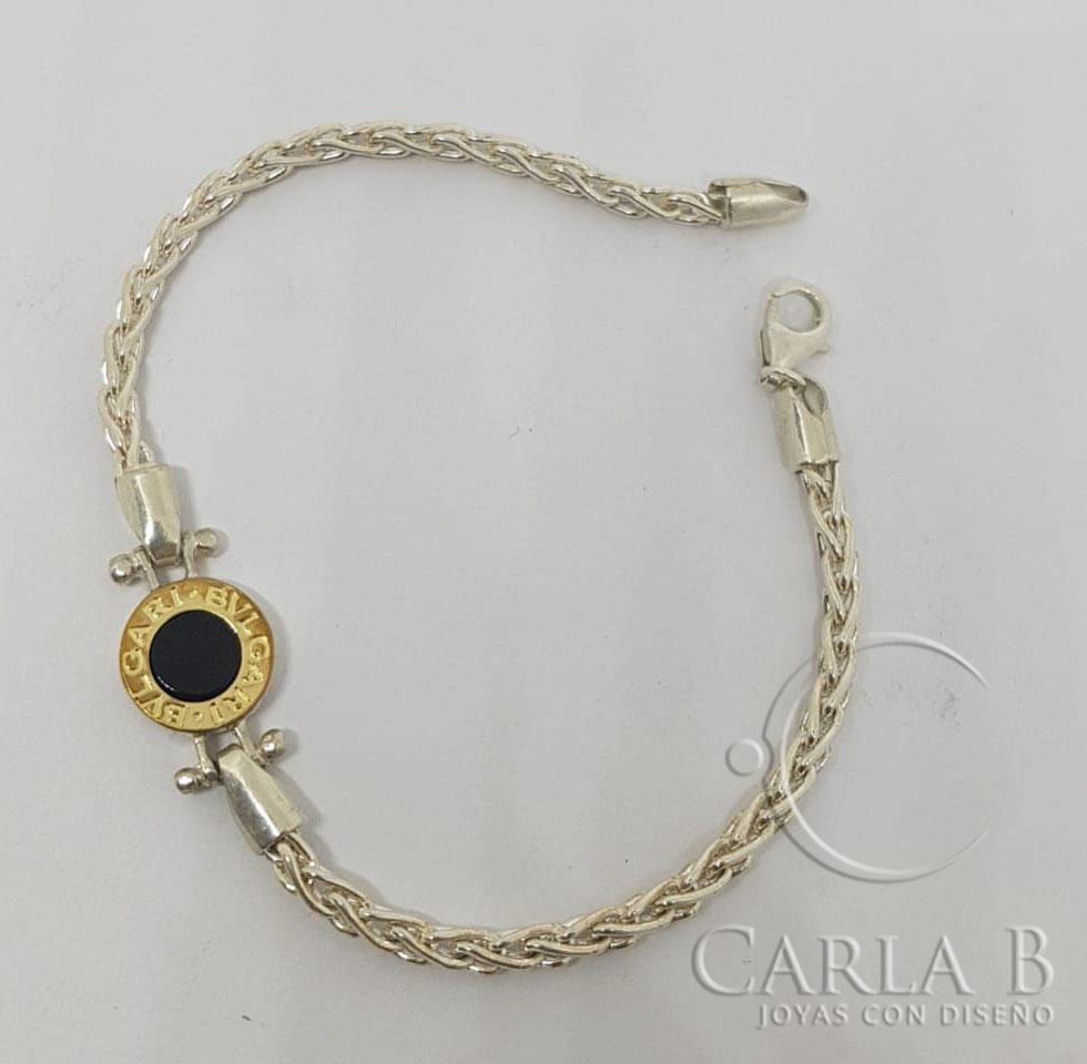 b23e9bf16c47 Pulsera Bulgari Plata Y Oro - Carla B.